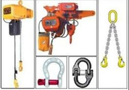 Hoist, Chain Slings, Clevises, and Hammer Links